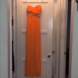 Orange beaded dress